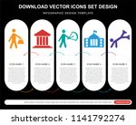 5 vector icons such as shopper... | Shutterstock .eps vector #1141792274