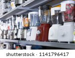 shelves with  juicers and other ... | Shutterstock . vector #1141796417