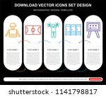 5 vector icons such as referee  ... | Shutterstock .eps vector #1141798817