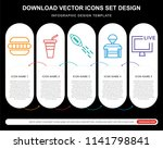 5 vector icons such as... | Shutterstock .eps vector #1141798841