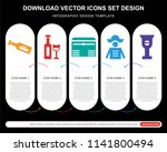 5 vector icons such as ship in...   Shutterstock .eps vector #1141800494