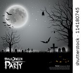 halloween party scary... | Shutterstock .eps vector #114180745