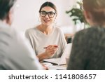 business people discussion... | Shutterstock . vector #1141808657