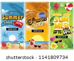summer commercial sale flyer | Shutterstock .eps vector #1141809734