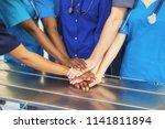 doctors and nurses coordinate... | Shutterstock . vector #1141811894
