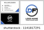 df initial circle logo template ... | Shutterstock .eps vector #1141817291