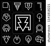 set of 13 simple editable icons ... | Shutterstock .eps vector #1141818221