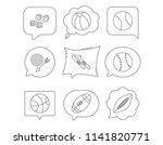 sport fitness  tennis and... | Shutterstock .eps vector #1141820771