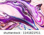 hand drawn acrylic painting.... | Shutterstock . vector #1141821911