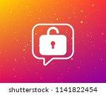 lock icon. privacy locker sign. ... | Shutterstock .eps vector #1141822454