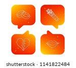 broken heart  kiss and wedding... | Shutterstock .eps vector #1141822484