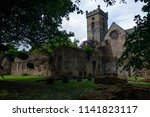 ancient ruins and gothic... | Shutterstock . vector #1141823117