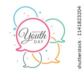 international of youth day... | Shutterstock .eps vector #1141823204