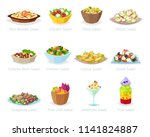 salad vector healthy food with... | Shutterstock .eps vector #1141824887
