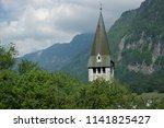 liechtenstein landmarks and... | Shutterstock . vector #1141825427