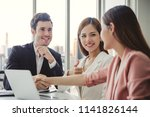 group of diversity business... | Shutterstock . vector #1141826144