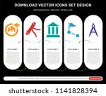 5 vector icons such as...   Shutterstock .eps vector #1141828394