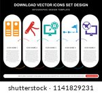 5 vector icons such as archives ...   Shutterstock .eps vector #1141829231