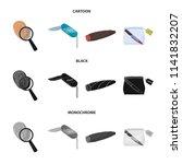 a fingerprint study  a folding... | Shutterstock .eps vector #1141832207
