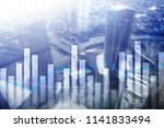 financial graphs and charts on... | Shutterstock . vector #1141833494