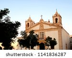 the beautiful church of santa... | Shutterstock . vector #1141836287