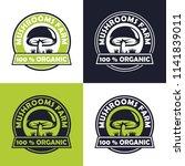 mushroom farm logo design | Shutterstock .eps vector #1141839011