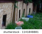 houses for animals in the city... | Shutterstock . vector #1141848881
