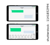 smartphone screen interface...