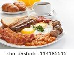 traditional full english... | Shutterstock . vector #114185515