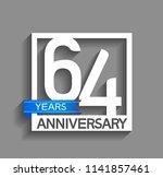 64 years anniversary... | Shutterstock .eps vector #1141857461