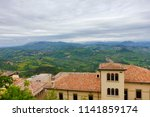 view from san marino to the... | Shutterstock . vector #1141859174