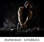 dark beats   dj mixing | Shutterstock . vector #114186211