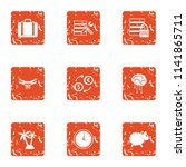 private data icons set. grunge... | Shutterstock .eps vector #1141865711