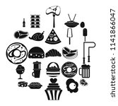 very harmful food icons set....   Shutterstock .eps vector #1141866047