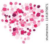 confetti of multicolored leaves ... | Shutterstock .eps vector #1141870871