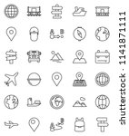 thin line vector icon set  ... | Shutterstock .eps vector #1141871111