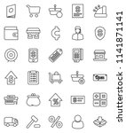 thin line vector icon set  ... | Shutterstock .eps vector #1141871141