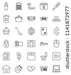 thin line vector icon set  ... | Shutterstock .eps vector #1141872977