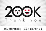 thank you 200 000 followers... | Shutterstock .eps vector #1141875431