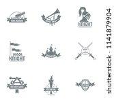 old honor logo set. simple set... | Shutterstock .eps vector #1141879904