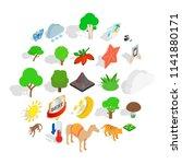 preserve icons set. isometric... | Shutterstock .eps vector #1141880171