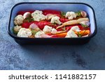 fresh vegetables ready to be...   Shutterstock . vector #1141882157