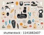 big set of kawaii funny... | Shutterstock .eps vector #1141882607
