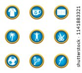 heavenly place icons set. flat... | Shutterstock .eps vector #1141883321