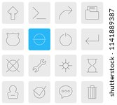 illustration of 16 ui icons...