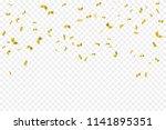 many falling luxury golden... | Shutterstock .eps vector #1141895351