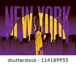 banner with of new york city ... | Shutterstock .eps vector #114189955