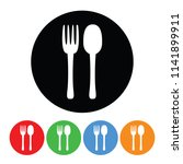 fork and spoon silverware icon... | Shutterstock . vector #1141899911