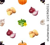 seamless pattern with... | Shutterstock .eps vector #1141906511