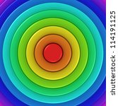 Radial background of rainbow colors - stock photo